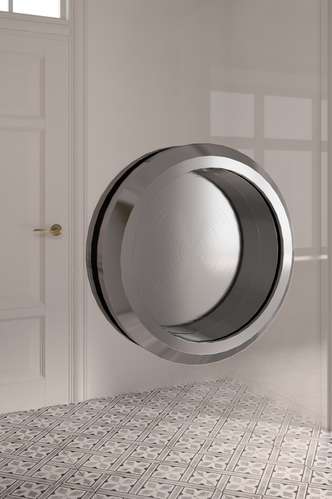 Round sliding door handle