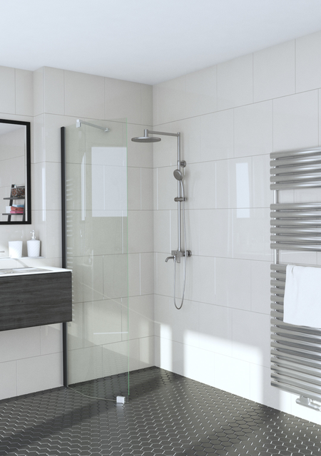 Bevelled fixed shower screen Infinia 231