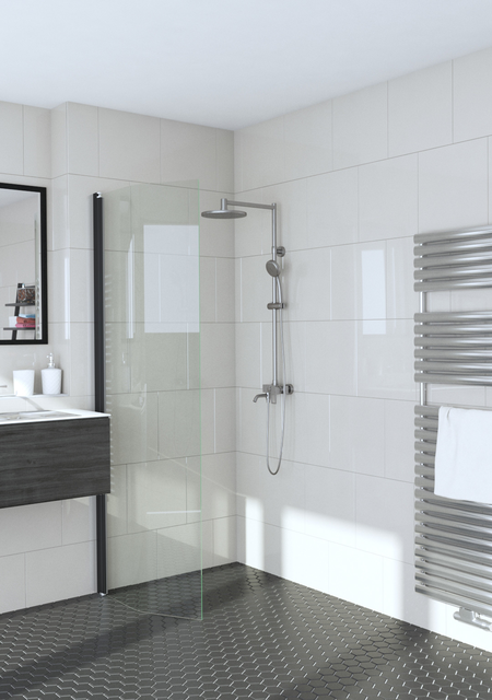 Bevelled hinged shower screen Infinia 232