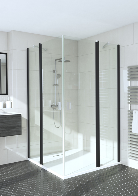 Shower enclosure with hinged doors with fixed parts Fenic 364 (314x314)