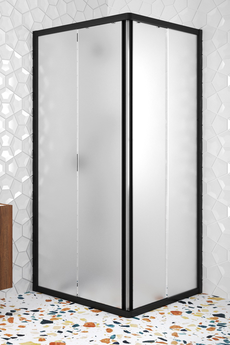 Shower enclosure with fixed walls and sliding doors Glisse 411