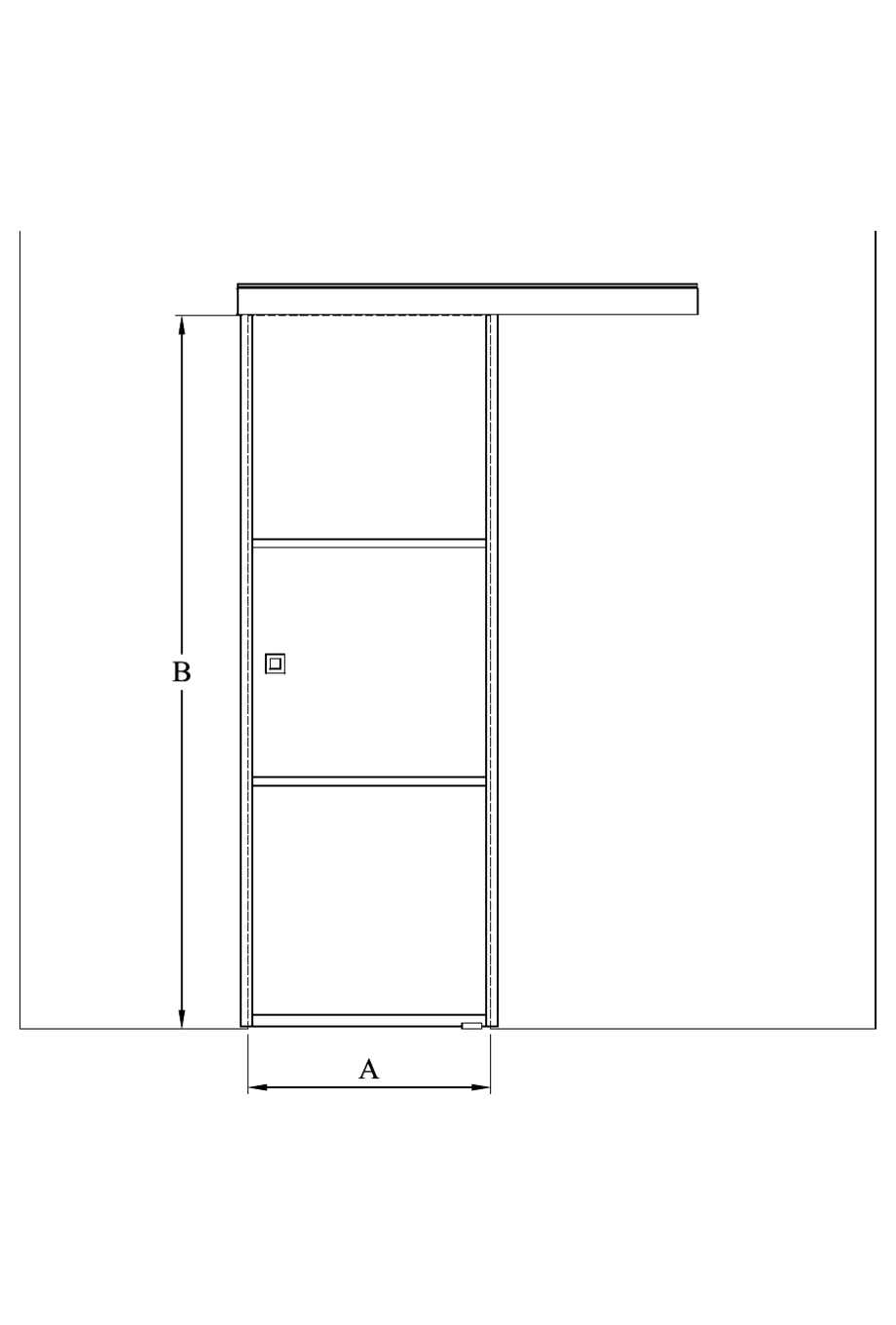 2d Sliding door with soft closing mechanism Bläk 861 Tokyo